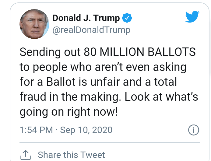 US 2020 Election: Trump calls mail-in voting a