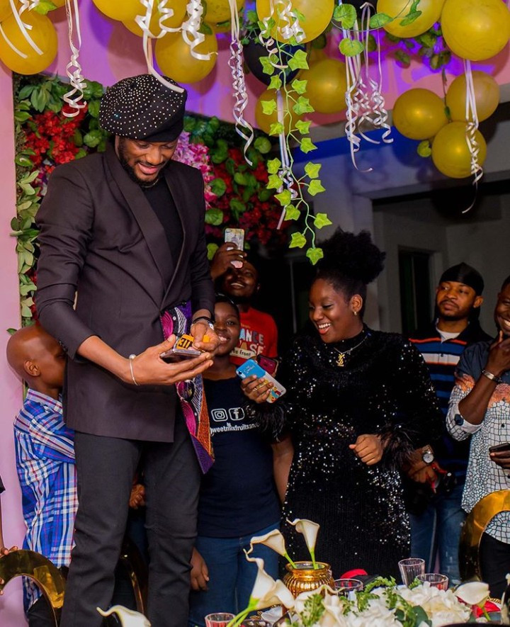 Lovely photos of Tuface Idibia, his wife Annie, and his kids at his 45th birthday party
