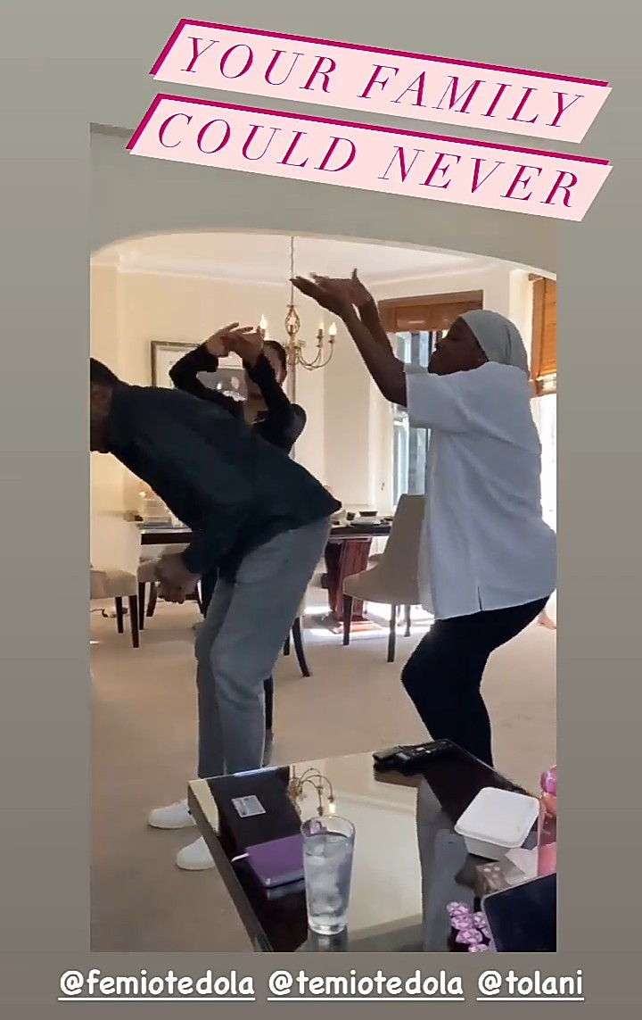 Femi Otedola dances with his kids at home as they enjoy a fun day together (photos/video)