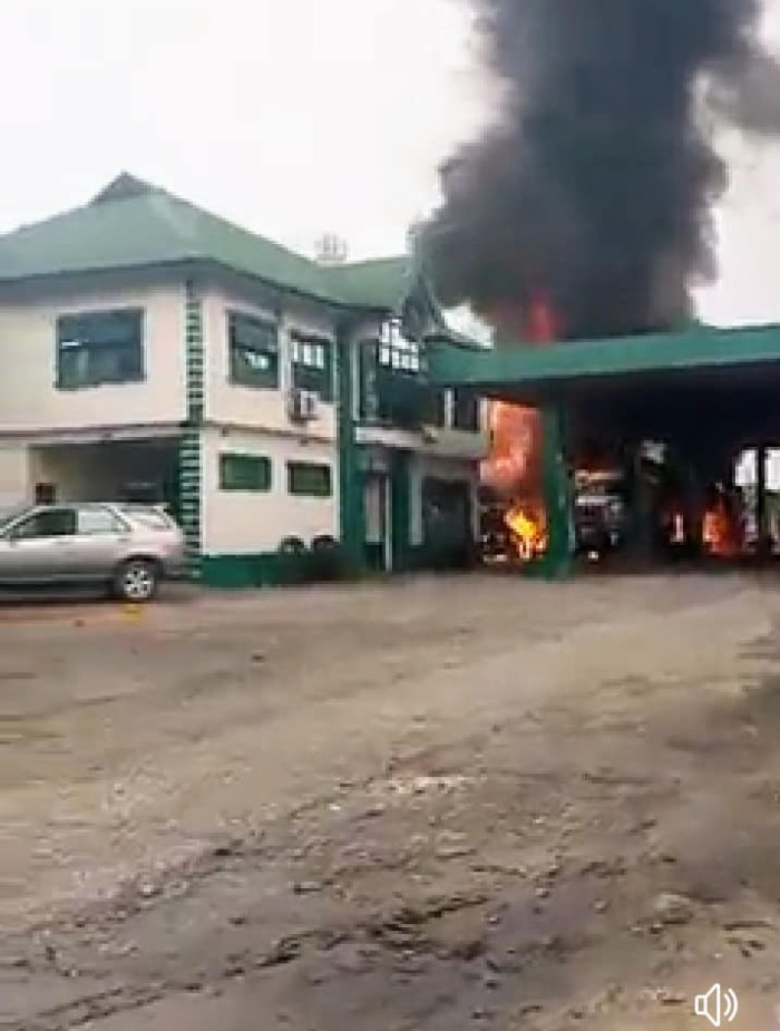 Fire breaks out at filling station in Port Harcourt