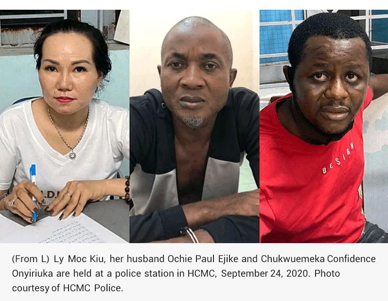 Two Nigerian men, one woman arrested in Vietnam drug bust