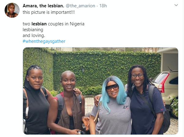 Nigerians react as lesbian couples pose for photo in Lagos