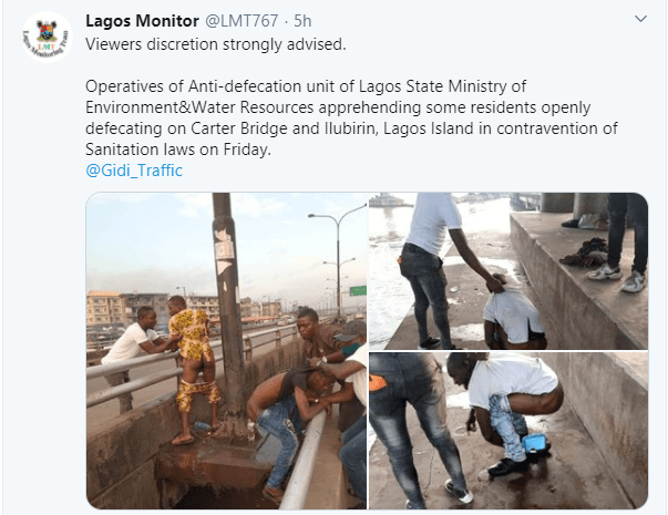 Lagos residents arrested for open defecation  (photos)