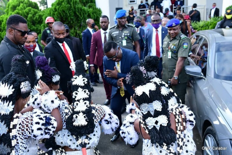Governor Ayade spotted dancing in Calabar