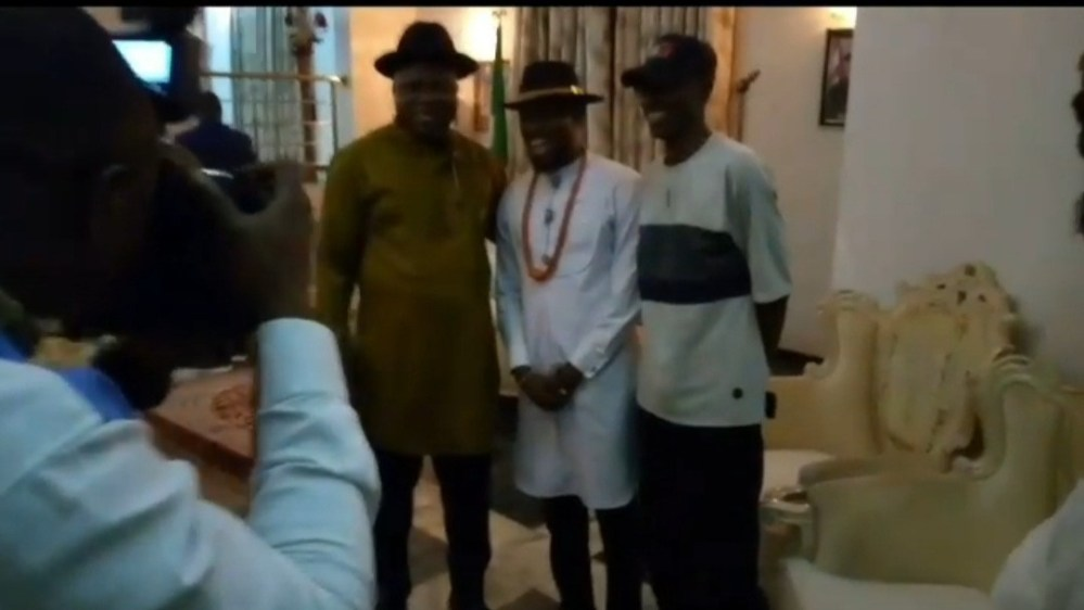 Bayelsa state governor, Duoye Diri, receives BBNaija star, TrikyTee, at the state government house