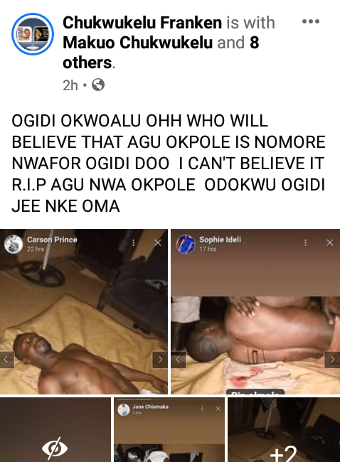 Graphic photos: Friends, family, Anambra community mourn 35-year-old landlord stabbed to death his tenant