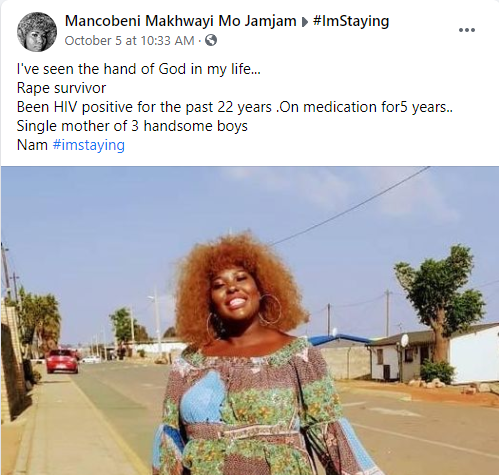 Lady celebrates living with HIV for 22 years