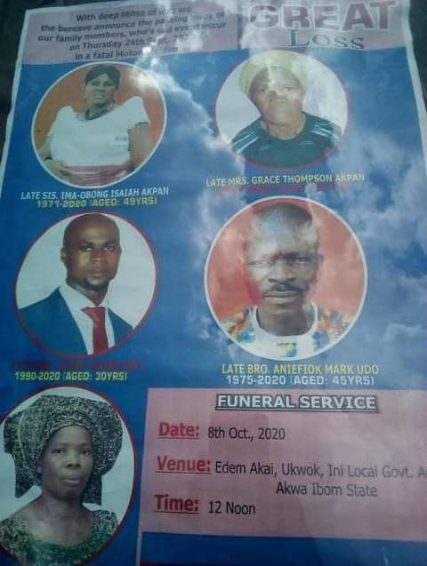 Five family members who died in fatal motor accident on the way to their neighbour