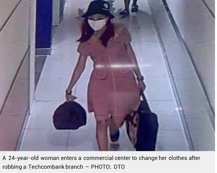 24-year-old woman robs a bank to pay debts