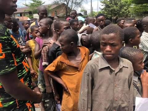 """We are not witches""""- Street children in Calabar protest at Governor"""
