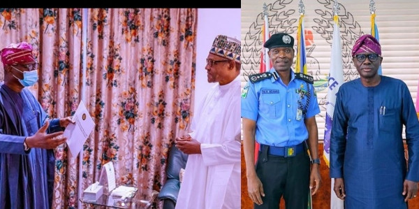 Governor Sanwo-Olu presents demands of Lagos #EndSARS protesters to President Buhari and IGP