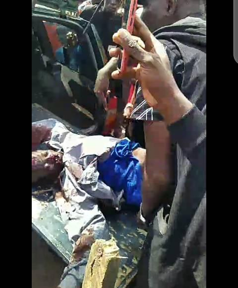 #EndSARS: Photos from the scene where armed hoodlums attacked protesters in Benin