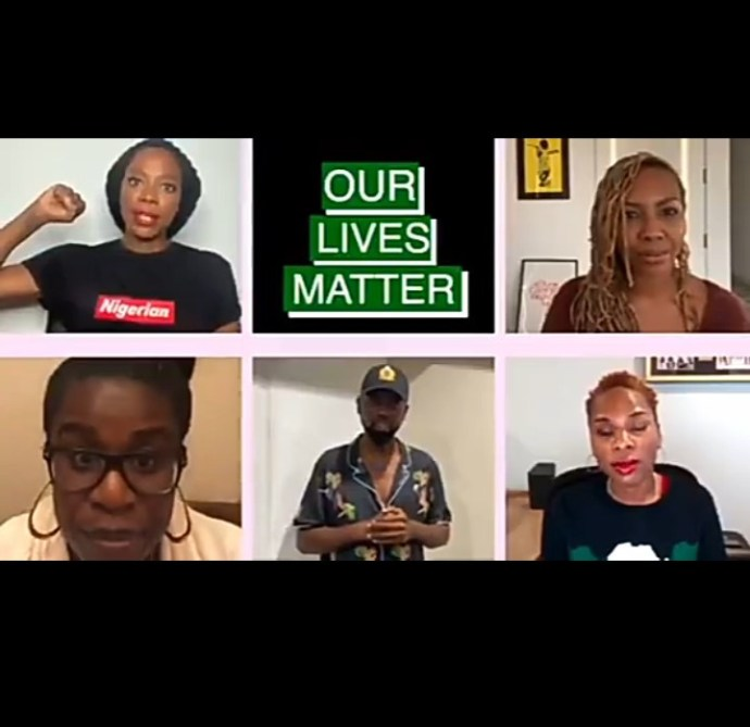 5f8dffb4a7ea5 Nigerian celebrities in the diaspora release a video to lend their voices to the End SARS protests in Nigeria (video)