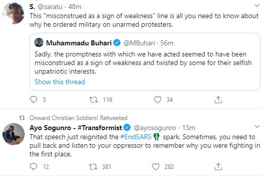 Nigerians react to Buhari