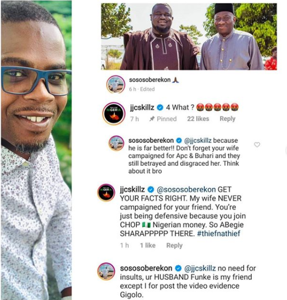 JJC Skillz and Soso Soberekon drag each other over their political affiliations