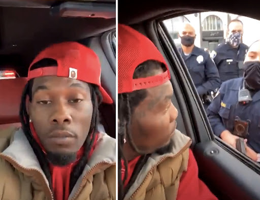 Offset detained in the middle of his Instagram live after run-in with Trump supporters (video)