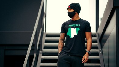 British Formula 1 racer, Lewis Hamilton lends his voice to End SARS campaign