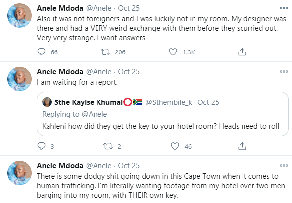 Miss South Africa 2020 judge, Anele Mdoda narrates how she escaped from trafficking syndicate in Cape Town hotel