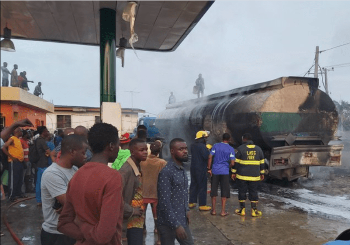 Tanker explodes in a filling station at Ajayi Road, Ogba (photos/videos)