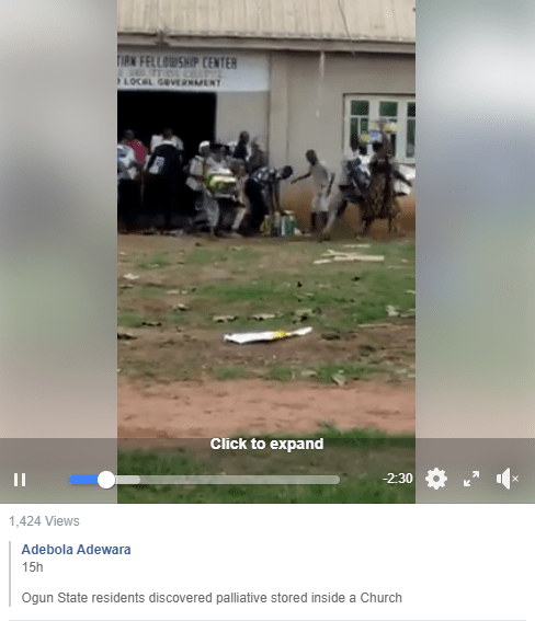 Hoodlums cart away food items stored inside a church in Ogun (video)