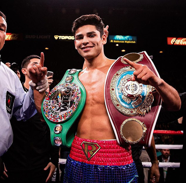 US boxer, Ryan Garcia caught on video cheating on his pregnant fiancee with Tiktok star, Malu Trevejo after telling her he was busy