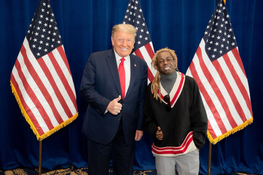 US 2020: Lil Wayne endorses Donald Trump after White House meeting few days to election