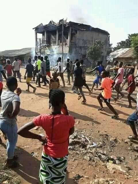 "Angry youths set ablaze all buildings belonging to prophet accused of ""snatching manhood"" in Benue community"