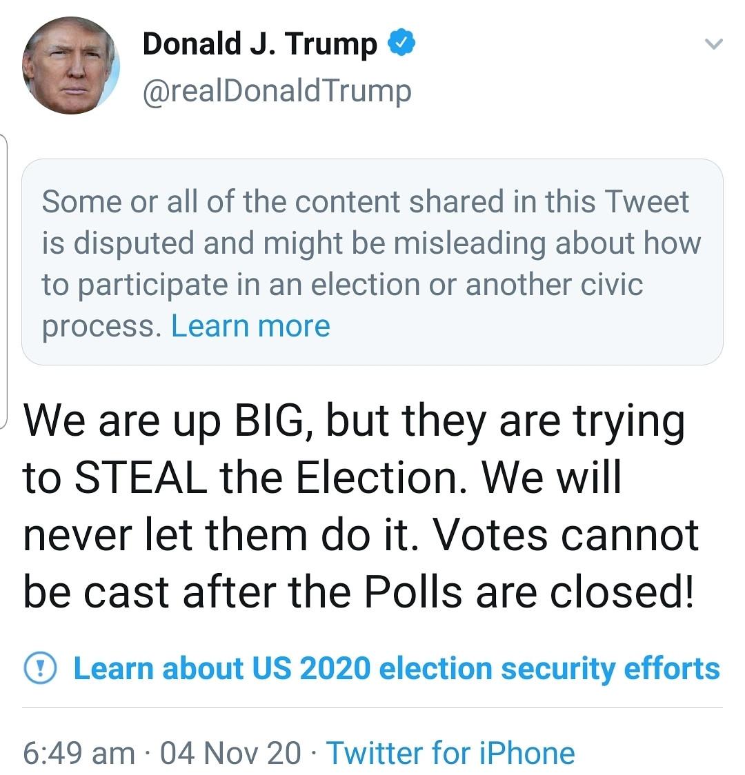 Élection américaine: Twitter restreint Donald Trump