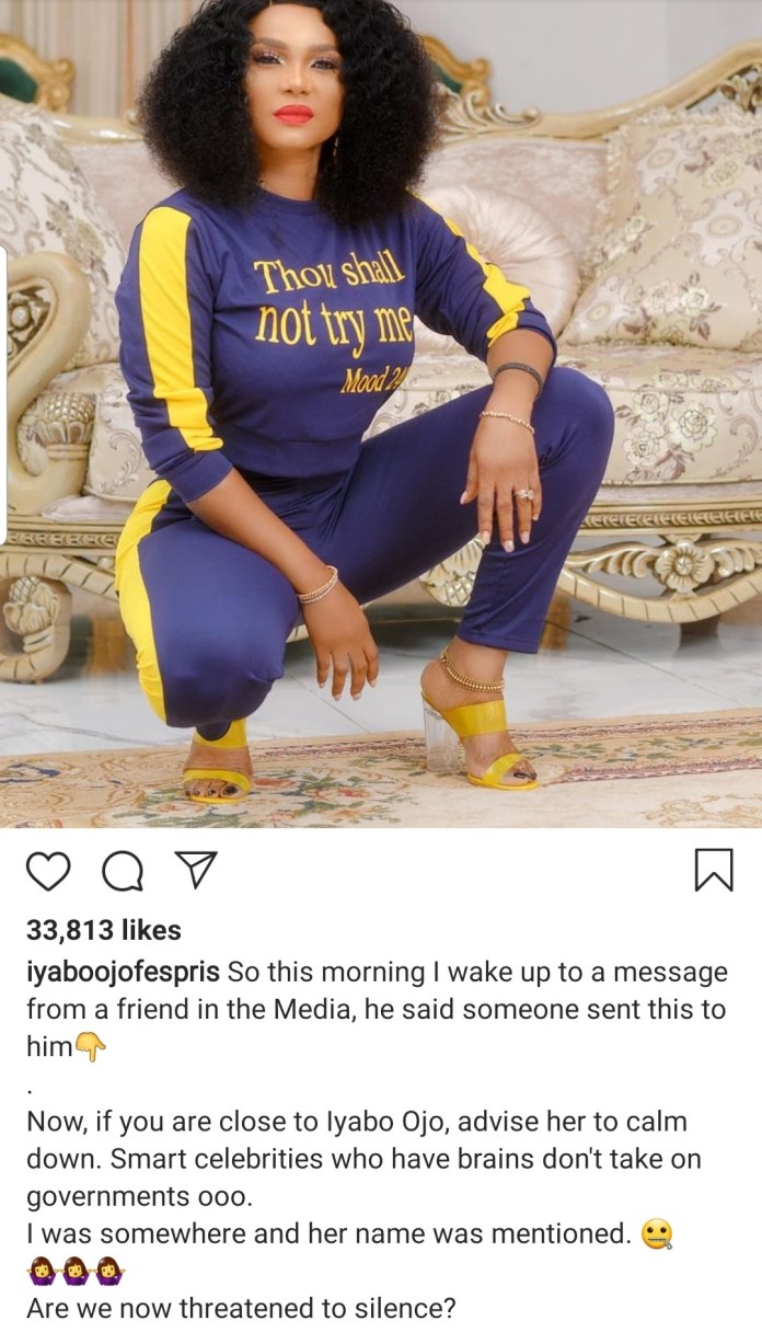 Iyabo Ojo alleges that she