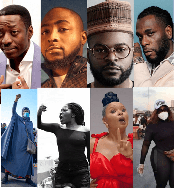 Man drags Sam Adeyemi, 2face Idibia, Kanu Nwankwo, Davido and 46 others to court over their involvement in EndSARS protest