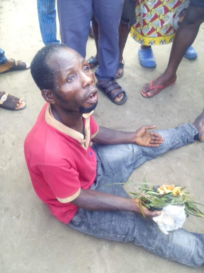 Man caught making incantations and invocations with fetish items at a cemetery in Rivers state