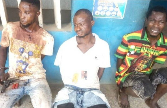 Three suspects arrested during robbery operation in Ogun state