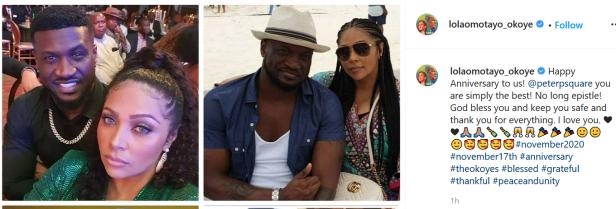 Singer Peter Okoye and wife, Lola, celebrate 7th wedding anniversary