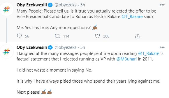 Presidential aide, Bashir Ahmad reacts to Oby Ezekwesili
