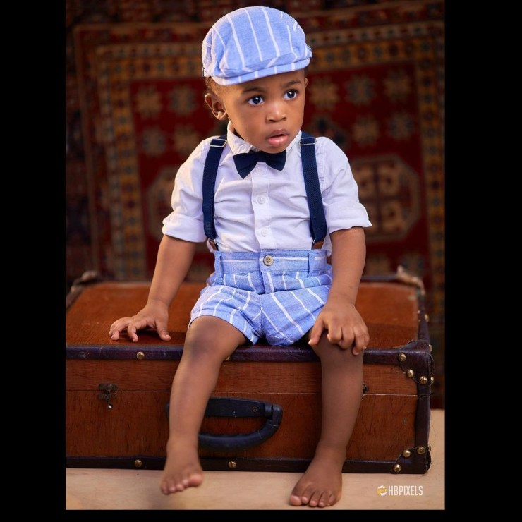 Fashion designer, Yomi Casual, shares lovely new photos of his son as he turns one