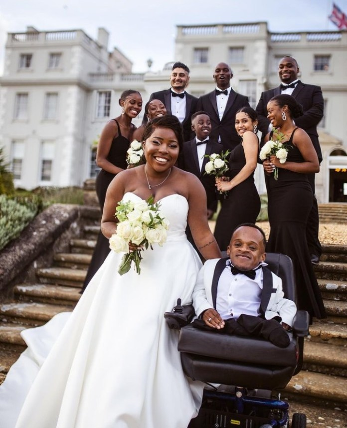 Winston Ben Clements, man born with brittle bones disorder, weds the love of his life, Mayfair Clements (video/photos)