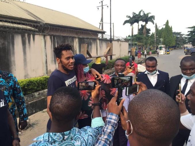 Update:  #EndSARS protester, Eromosele Adene released from police custody (photos)