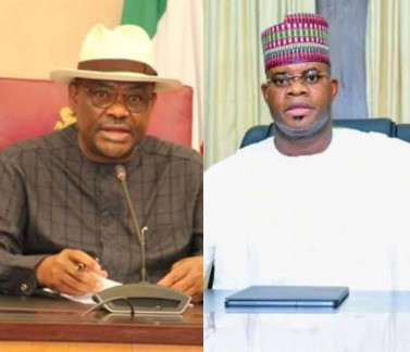 Wike and eight more PDP governors to join APC - Kogi state governor, Yahaya Bello alleges