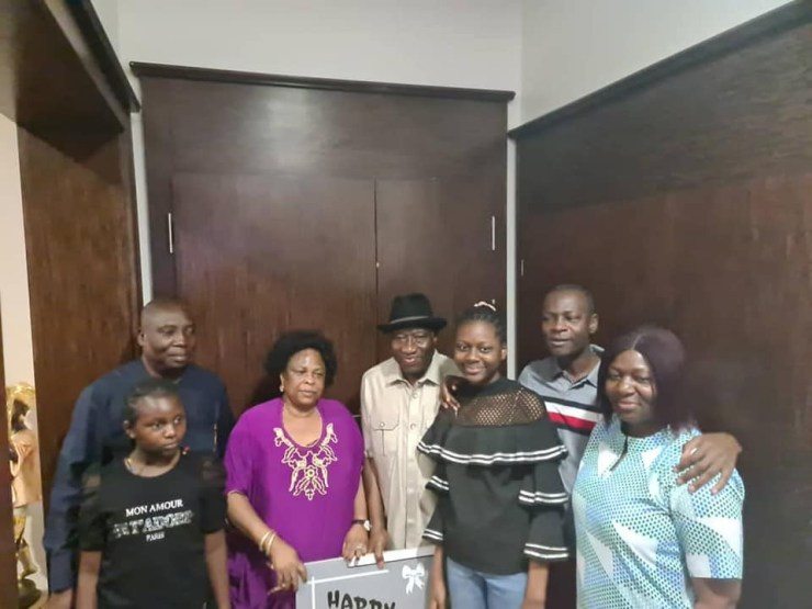 Former President, Goodluck Jonathan, serenaded by his family members as he turns 63 (photos/Video)