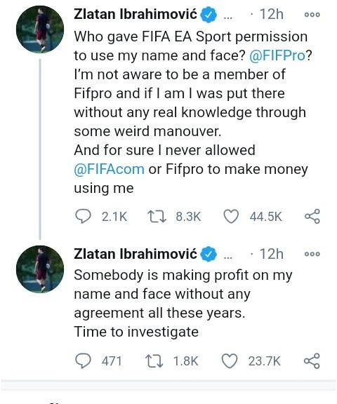 Zlatan Ibrahimovic slams EA Sports for using his