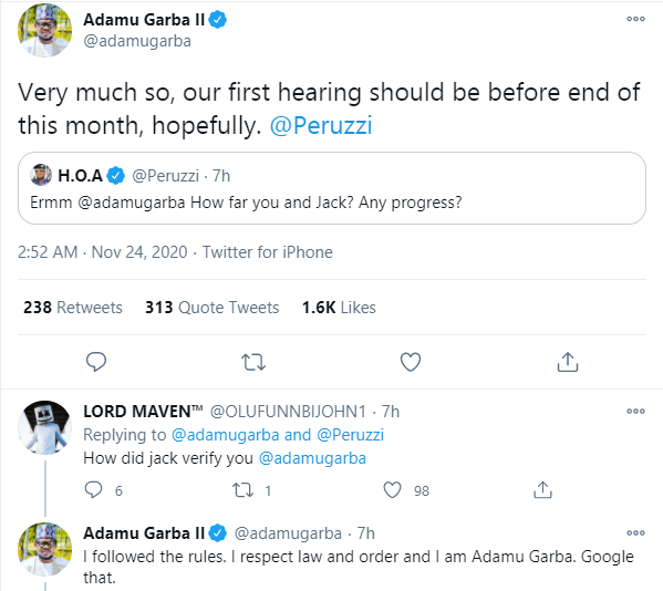 Former Presidential candidate, Adamu Garba gives update on lawsuit against Twitter CEO Jack Dorsey