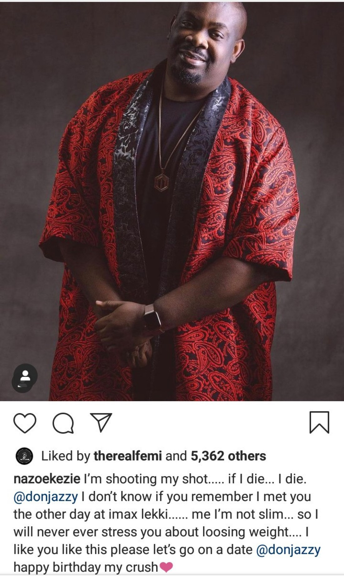 """""""If I die, I die"""" Actress Nazo Ekezie shoots her shot at Don Jazzy"""