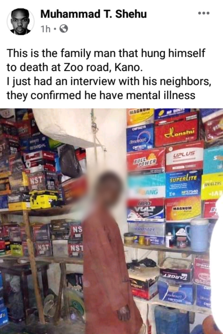 Man commits suicide in Kano (photos)