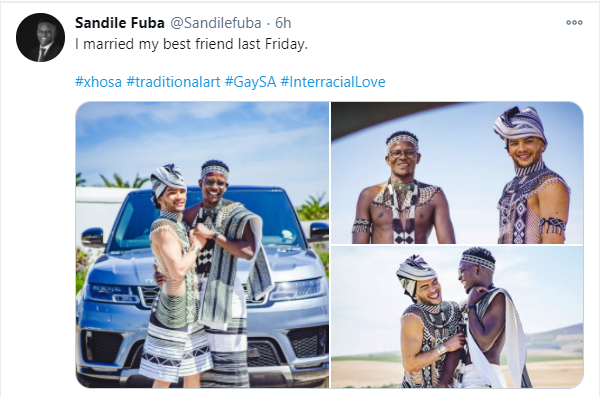 South African gay couple marry in traditional attire (photos)