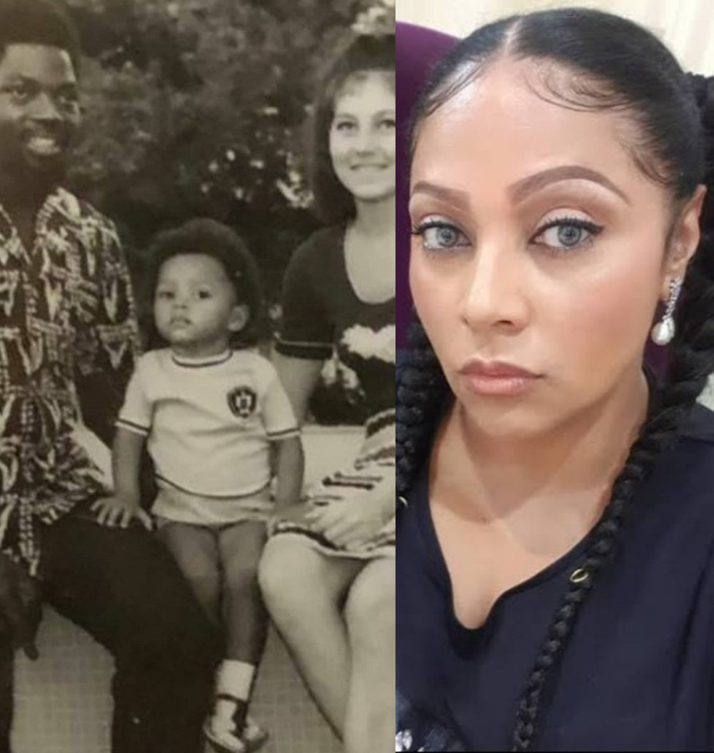 Lola Omotayo-Okoye shares throwback photo she took with her parents when she was a toddler