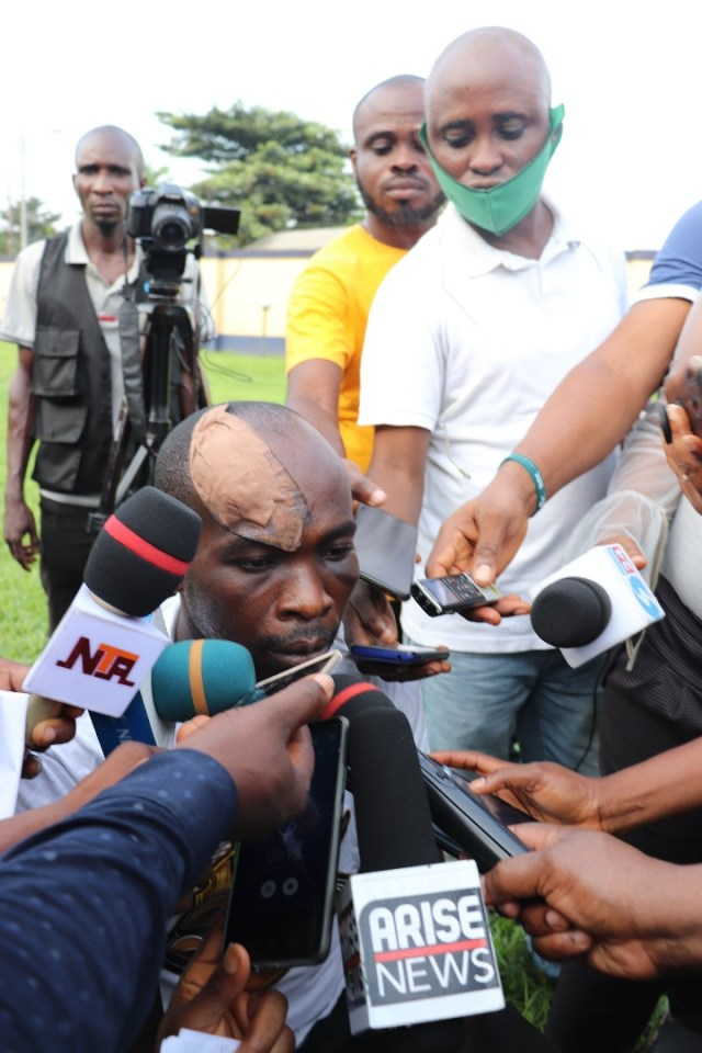 Three suspects paraded over attack on Governor Wike