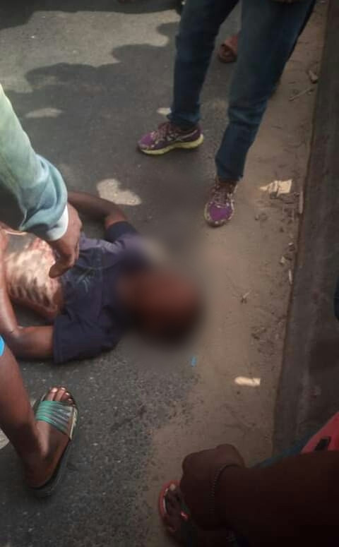 Truck crushes man to death in Port Harcourt (photos)