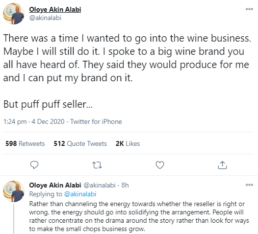 Akin Alabi weighs in on customer repackaging and reselling businesswoman