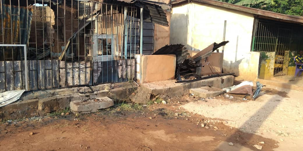 Midnight fire razes seven shops in Anambra (photos)