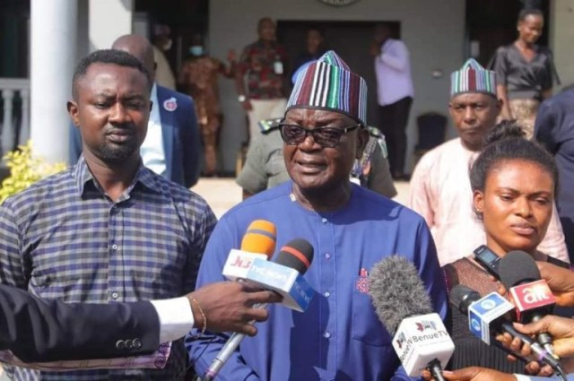 Channels TV reporter reconciles with his wife after Governor Ortom intervened